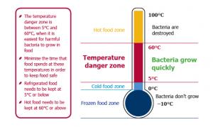 Temperature Danger Zone graph 1
